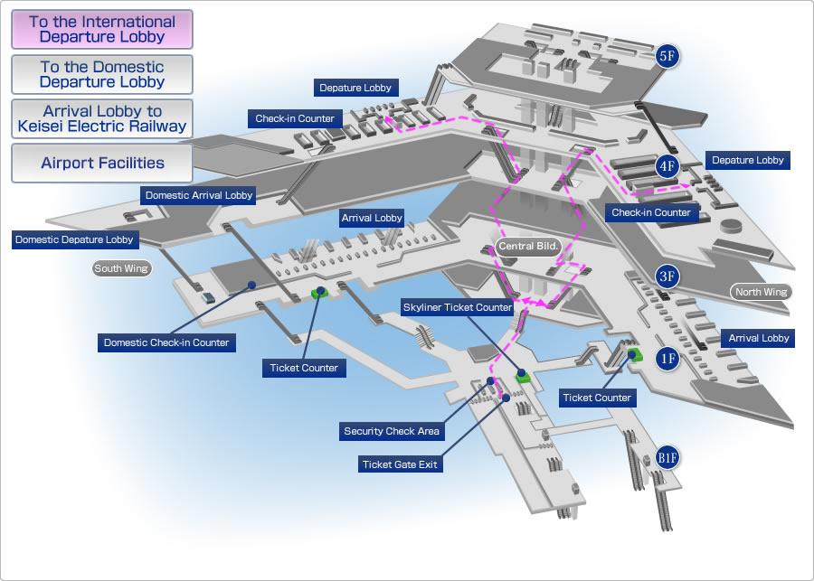 narita airport map english Skyliner Keisei Electric Railway narita airport map english